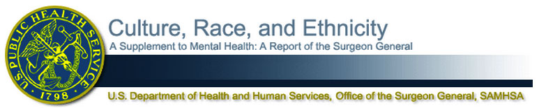 Surgeon General's Sub-Report on Race & Ethnicity in Behavioral Health